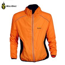 Buy WOLFBIKE Men Winter Autumn Cycling Coat Windproof Road Bike Clothing Long Sleeve Jersey Wind Rain Waterproof Jacket, Orange for $17.76 in AliExpress store