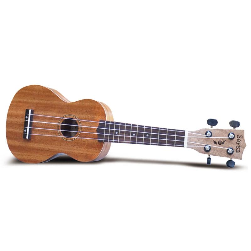 Hot Sale SAYSN 21/23/26 Inch Ukulele Ukelele 4 Strings Hawaiian Guitar Laser Engraving No-border Mahogany Uke With Backpack(China (Mainland))