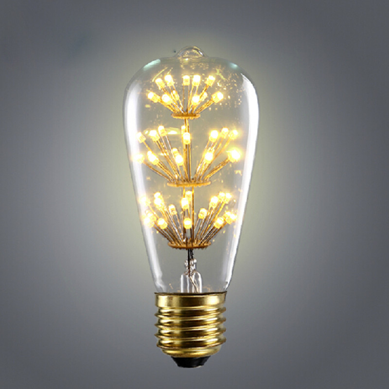 retro vintage starry led edison bulbs e27 220v st64 incandescent bulb. Black Bedroom Furniture Sets. Home Design Ideas