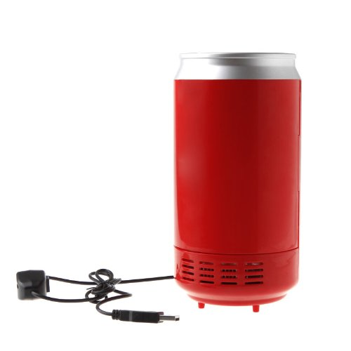 GTFS-Mini USB PC Fridge Beverage Drink Cans Cooler or Warmer Red(China (Mainland))