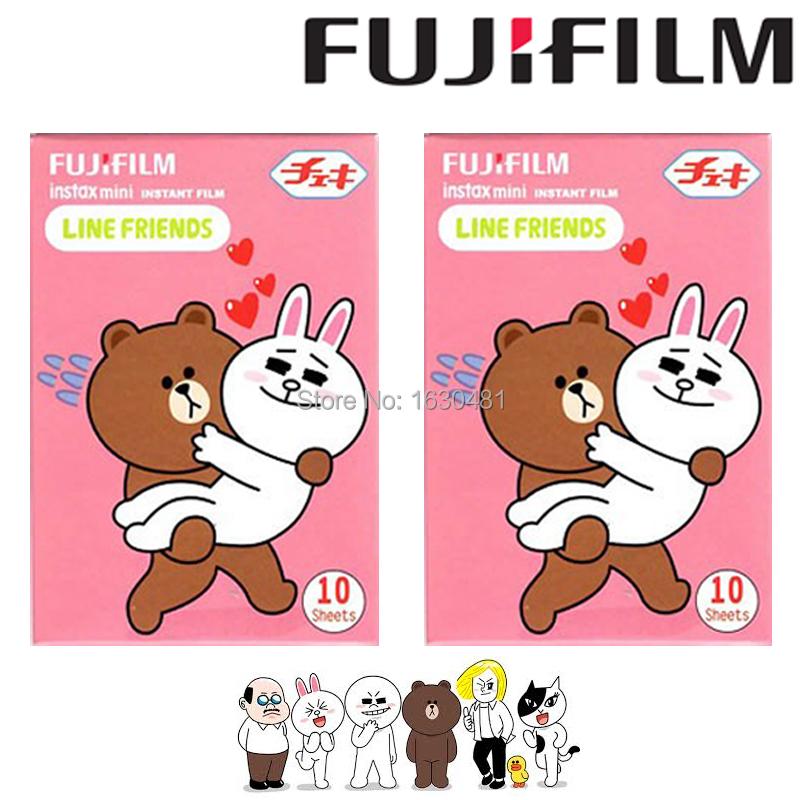 20 Sheets Fujifilm Fuji Instax Mini Film Line & Friends Film Photo Paper for Mini 90 8 7s 25 50s Camera(Hong Kong)