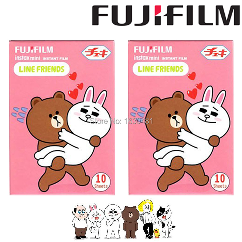 20 Sheets Fujifilm Fuji Instax Mini Film Line & Friends Film Photo Paper for Mini 90 8 7s 25 50s Camera(Hong Kong)
