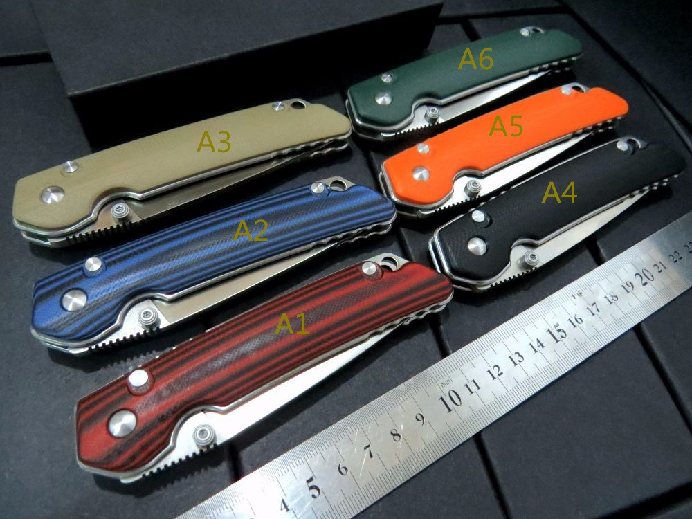 Buy Hot sale . Custom Folding Knife G10 handle + D2 steel blade camping hunting knife outdoor tool survival Knives + MMMMMMMMMMMMMM cheap