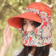 Hot Selling Hats For Women Summer Outdoors Visors Cap Sun Collapsible Anti-uv New Fashion Beach Feminino Big Wide Brim Hats(China (Mainland))
