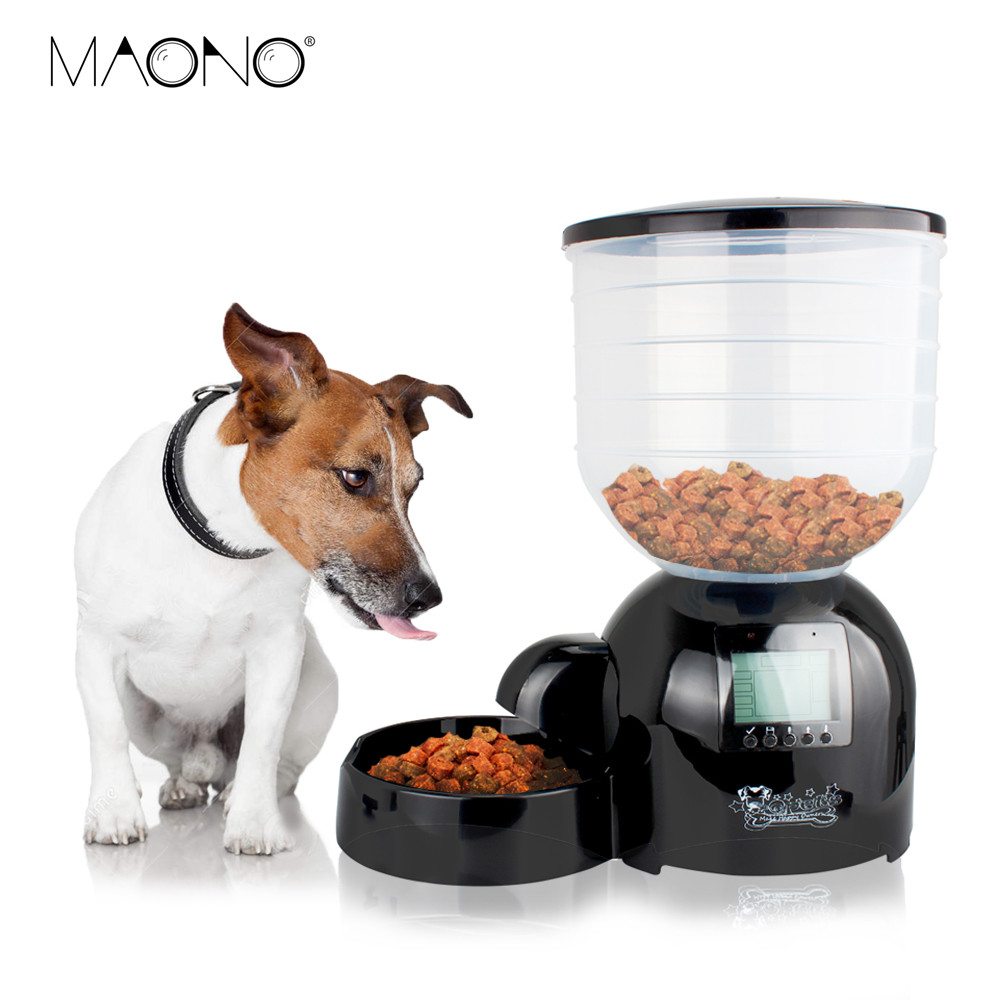 Stock Clearance Cat Dog Automatic Feeder with Timer Microphone LCD 10lbs Dog Food Dispenser Digital Electronic Bowl Two Versions(China (Mainland))