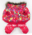 New Bright red bubble padded luxury fur pet dogs winter coat Free shipping dogs clothes