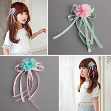 Buy Cute Fashion Children's Hair Accessories Ribbon Flowers Hairpins Girls Headwear Baby Hair Clips Princess Barrette Kids Headdress for $1.15 in AliExpress store