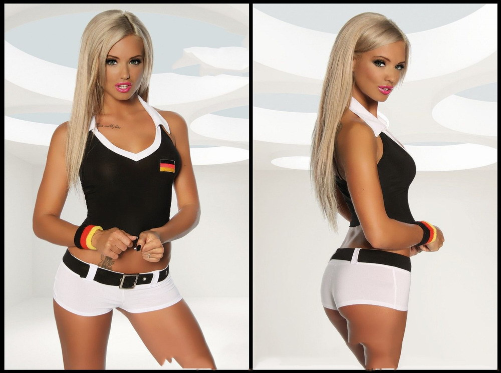 FOOTBALL OUTFIT FOR WOMEN SL1410 Sexy Costumes For Adults+Free shipping(China (Mainland))
