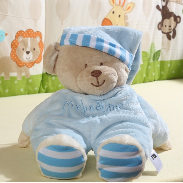 35CM Soft Bears Plush Toys Stuffed Animals Bear Dolls with Bowtie Kids Toys for Children Birthday Gifts Party Decor(China (Mainland))