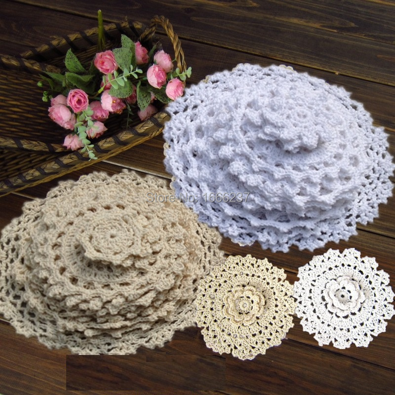 2019 Wholesale 100 Cotton Hand Made Crochet Doilies Cup Mat Pad