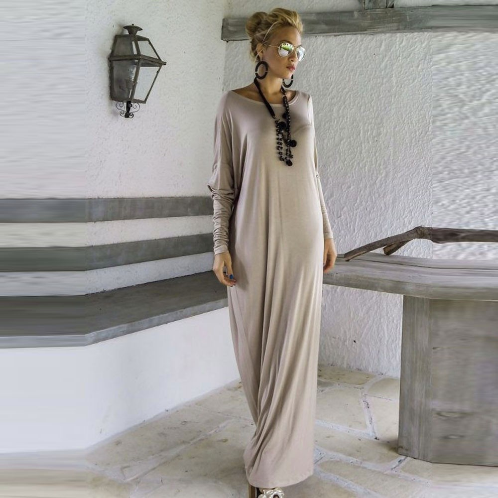 Women Long Dress Long Sleeve Maxi Dress Casual Sexy Fall Full Sleeve Loose Wrap Oversize Irregular Elegant Party Dresse vestidos (19)