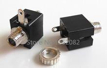 20 unids 3.5 mm Audio femenino del conector de 3 Pin DIP para auriculares Jack Socket PJ-301M
