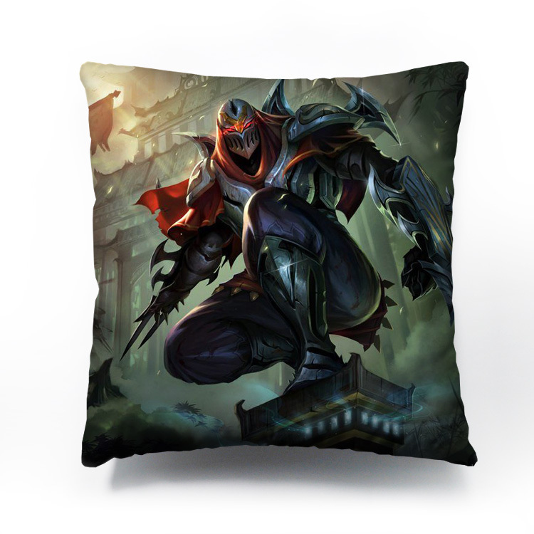 League of Legends Zed Game Cushion/Pillow cover custom hot sale of Creative DIY to Digital printing car sofa cushion(China (Mainland))