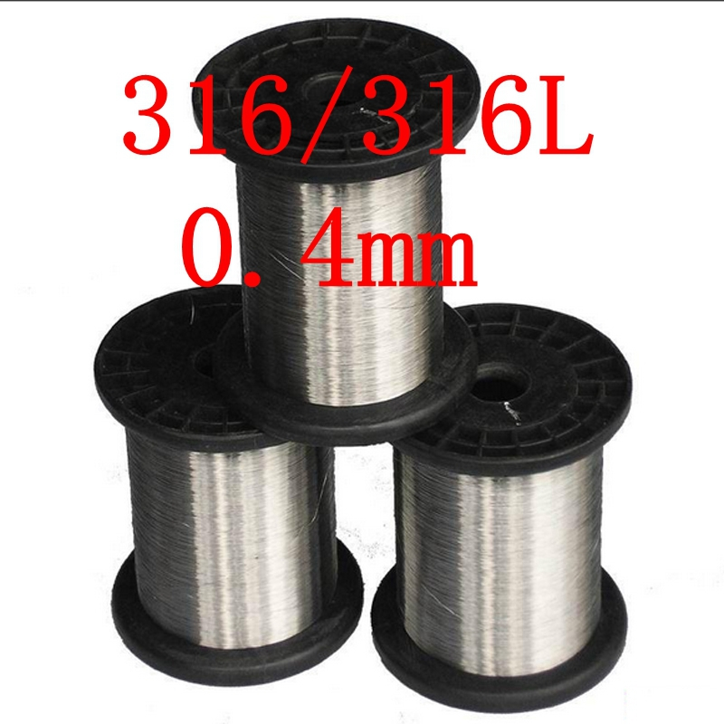 0.4mm,316/316L Soft Stainless Steel Wire,27 gauge/0.4mm SS Seaworthy Thread(China (Mainland))