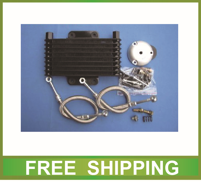 aluminium radiator oil cooler alloy silver black fit GN125 EN125 GS125 GZ125 GSX 125cc motorcycle accessories free shipping(China (Mainland))