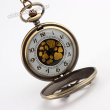 Latest Vintage Unique Large Hunger Game Steampunk Pocket Watch Necklace Chain P104 relogio de bolso