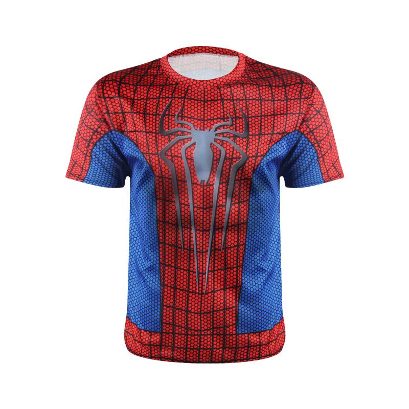 Marvel Superhero Avengers Spiderman Captain America Ironman T Shirt Men Armour Base Layer Thermal Under Gym Sport tshirt homme(China (Mainland))