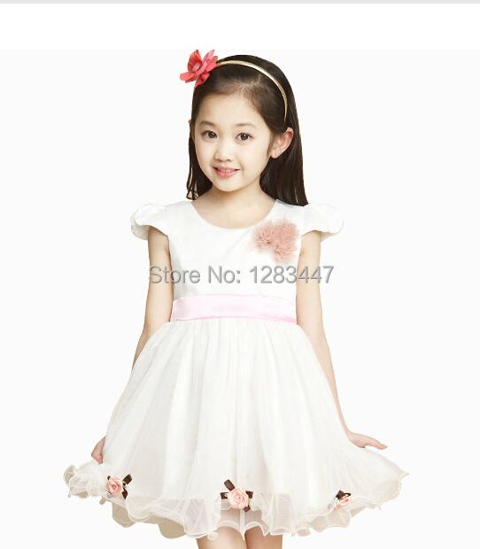 2014 children's ballerina dress girl fashion dress childrens chiffon fluffy pettiskirts Tutu Layered Princess dress(China (Mainland))