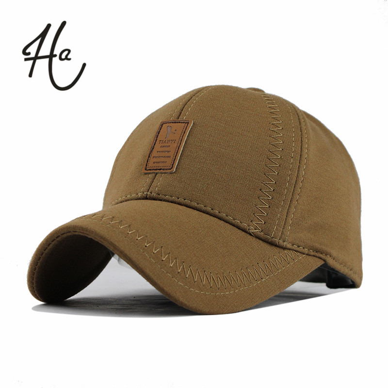 Wholesale Brand Hat Cap Warm Thickened Cotton Sutures Baseball Cap Bone Snapback Glof Cap Women Knitted Hat Fitted Hats Of Men(China (Mainland))