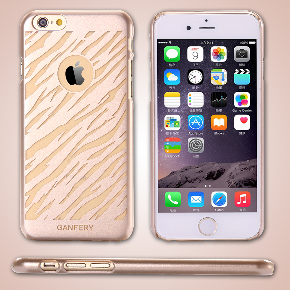 5DHL Gold Hard PC Champagne Back Cover Iphone 6 4.7 Inch Ultra Slim Fit Skin Cell Phone Case - FLOVEMECASE Store store