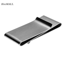 Hoomall Brand Stainless Steel Slim Pocket Cash Hollow Money Clip Holder Rectangle Cash Clip For Women & Men Silver Tone 6.5*3cm(China (Mainland))