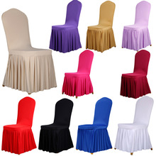 Home Chair Cover Polyester Spandex Dining Chair Covers For Wedding Party Chair Cover Brown Dining Chair Seat Covers  New 1 Pcs(China (Mainland))