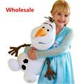 Anime Plush Toys 23 30 50cm Olaf Plush Doll Anna Elsa Princess Sven Kristoff Hans