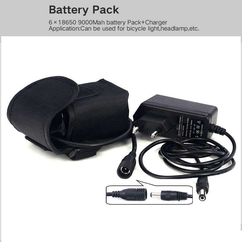 Battery Pack Li-ion Rechargeable 9000mAh Storage Batteria 8.4 v 6x18650 Battery for Headlight Bike Lamp+Charger<br><br>Aliexpress