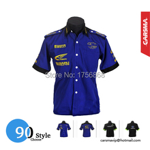 Embroidery Cotton 90 Style F1 Short Sleeve Shirts GSN NASCAR Motorcycle Shirts for GP World Rally Team(China (Mainland))