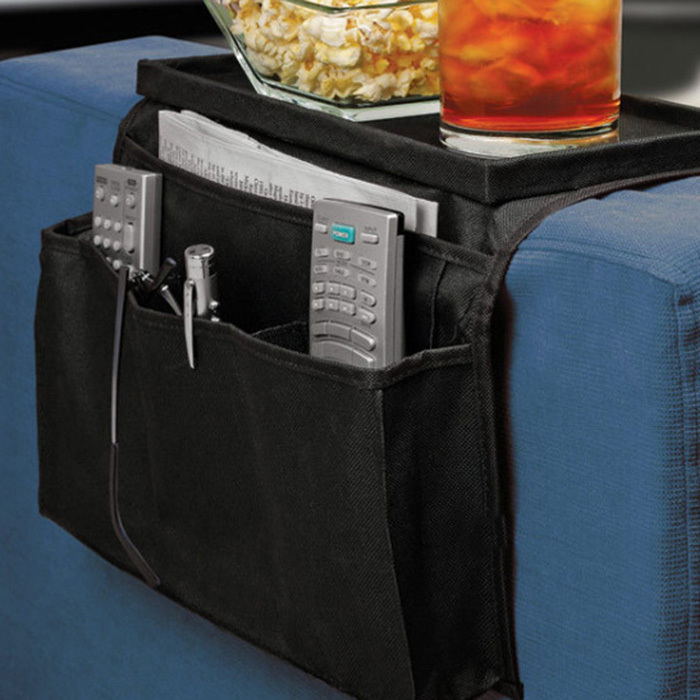 Sofa Couch Arm Rest Organizer Storage Remote Control Holder table bag New(China (Mainland))