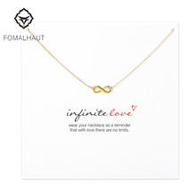 Buy New Style Infinite-Love plated Pendant necklace Fashion Statement Clavicle Chain Necklace Women FOMALHAUT Jewelry for $1.09 in AliExpress store