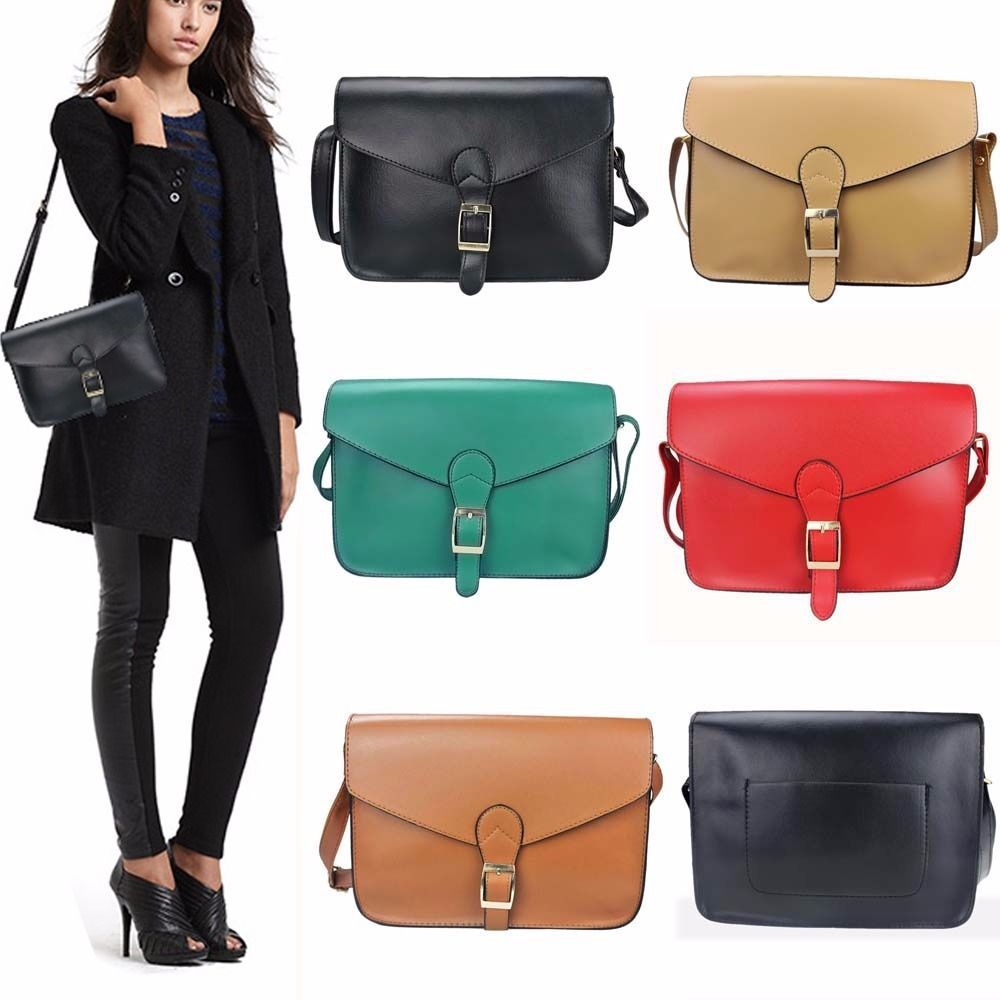 Fashion Women Handbag Shoulder Bags PU Leather Messenger Shoulderbag Crossbody Bags Ladies Tote Purse Hobo Bag Free Shipping(China (Mainland))