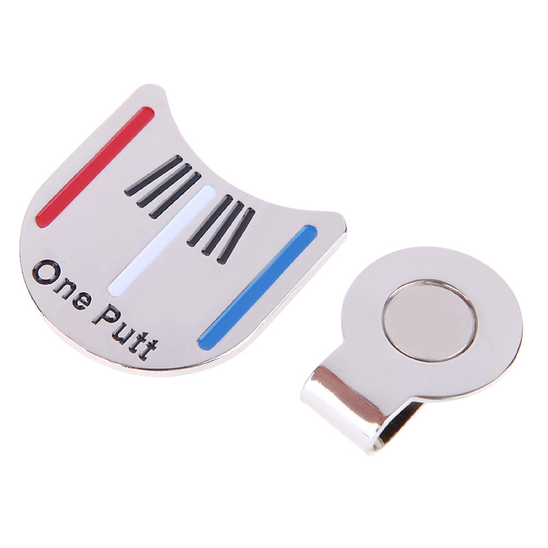 High Quality Outdoor Alloy Golf Alignment Aiming Tool Ball Marker Magnetic Hat Clip Golf Accessories(China (Mainland))