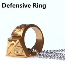 Self-defense Ring Shocker Weapons Product Survival Ring Tool Pocket Women Self Defense Ring  With Necklace Zinc Alloy