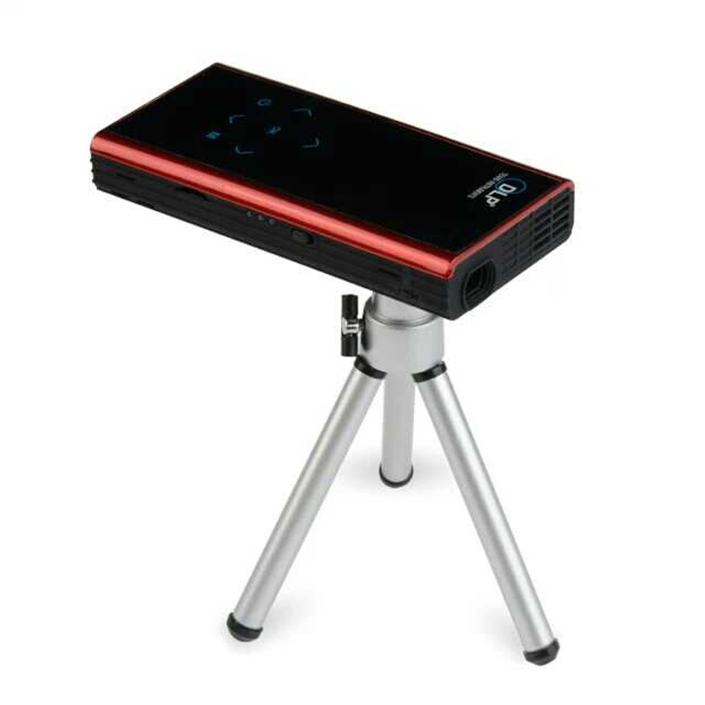 1080p mini projector built in android 4 4 system with wifi and bluetooth connect with smartphone for Small bluetooth projector