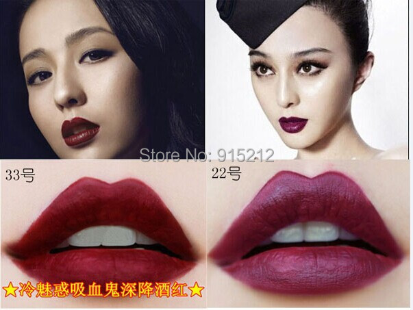 10pcs Brand Waterproof Elegant Dark Vampire Color Lipstick matte smooth lip stick lipgloss Long Lasting Party Queen Lip Makeup<br><br>Aliexpress