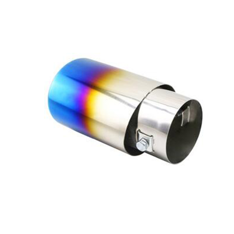 2.2'' inlet Universal Titanium Blue Stainless Steel Tail Pipe Decorative Tip Stainless Steel Pipe for all models car styling(China (Mainland))