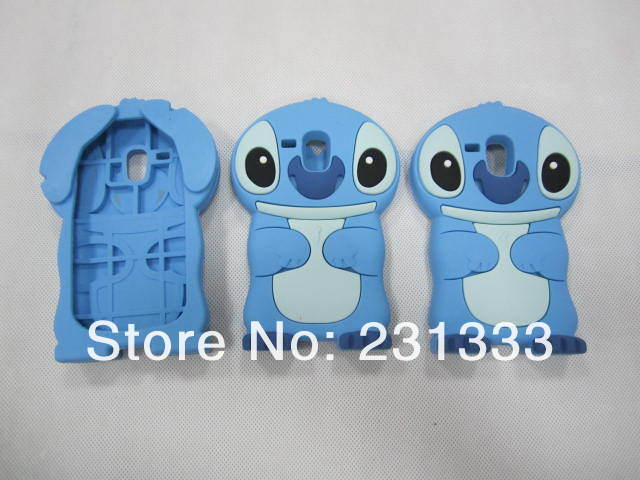 Stitch 3D Lilo & Stitch silicone cartoon cute gel rubber case For Samsung Galaxy S3 Mini I8190 back cases 30pcs free shipping
