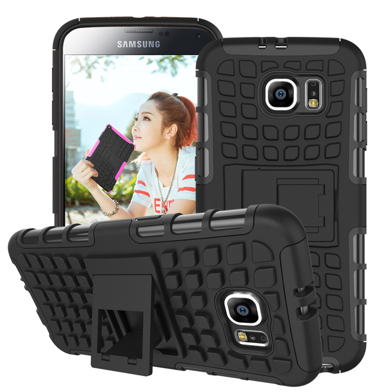 Galaxy S6 Cases Rugged TPU Plastic Hybrid Armor Case Samsung Slim Stand Shock Proof Back Cover - ShenZhen Green Sky Technology Ltd store