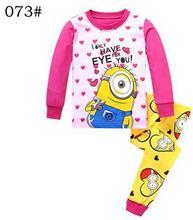 Buy New 2016 Children Clothes Kids Minions Pyjamas Baby Despicable Pajamas Boys Girls 100% Cotton Pijamas Kids Sleepwear for $6.94 in AliExpress store