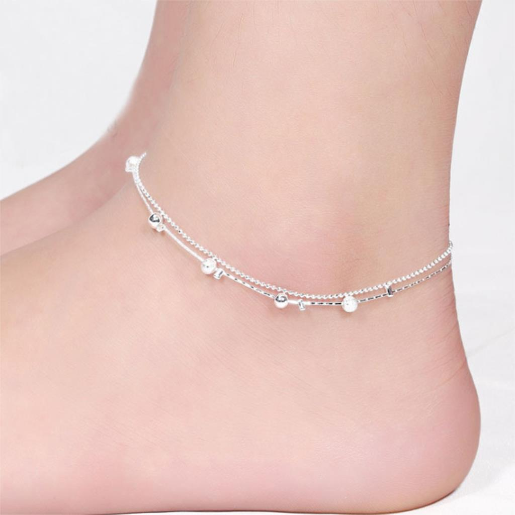 2015 Women Silver Plated Anklet Bead Ankle Bracelet Fashion Anklets for Women New Foot Jewelry Hot Sale Body Chains(China (Mainland))