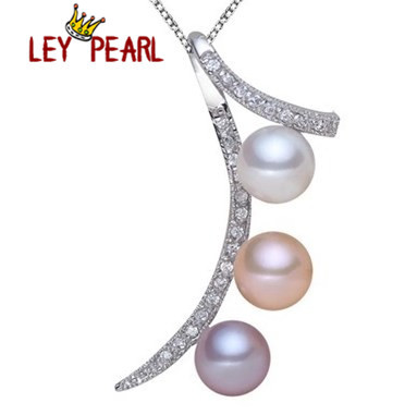 Real Freshwater Pearl 925 Silver Pendant Necklace with Snake Silver Chain Jewelry Office Lady's Necklace Jewellery Nice Gift(China (Mainland))