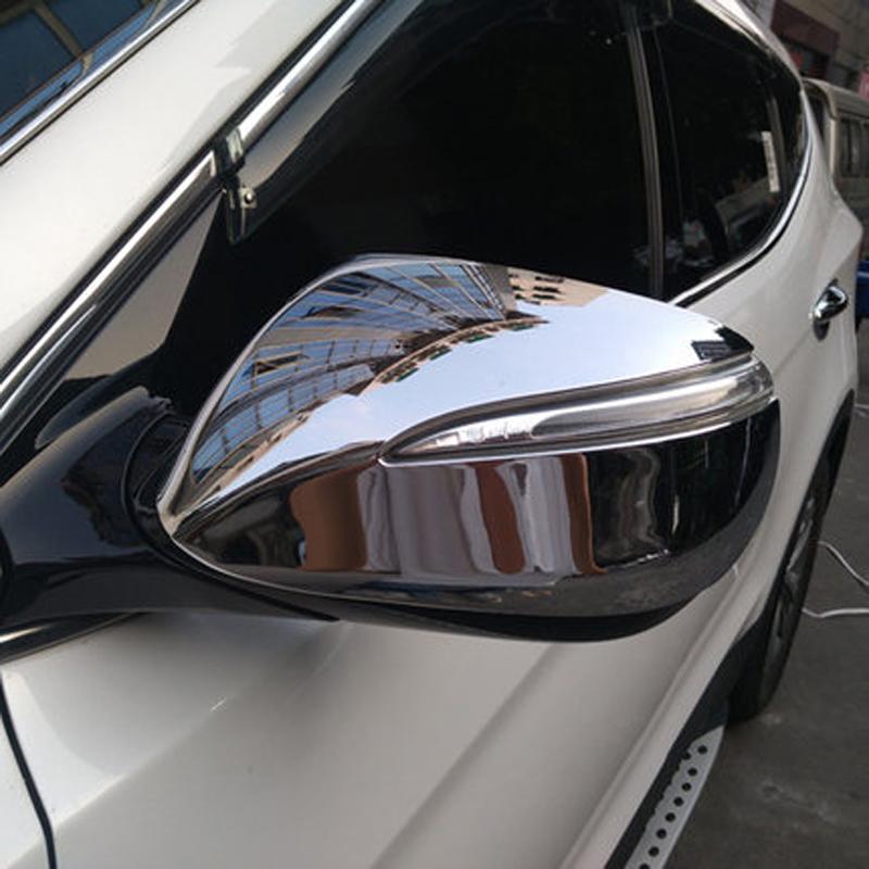 Door Mirror Cover For Hyundai IX45 New Santa FE 2013 Car Accessories Chrome Review Mirror cover(China (Mainland))