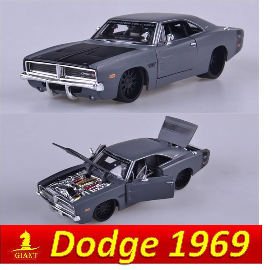 Free Shipping High Imitation 1:24 Dodge 1969 Challenger Muscle Car Model Collectable Car Decoration Children Popular Car Toys