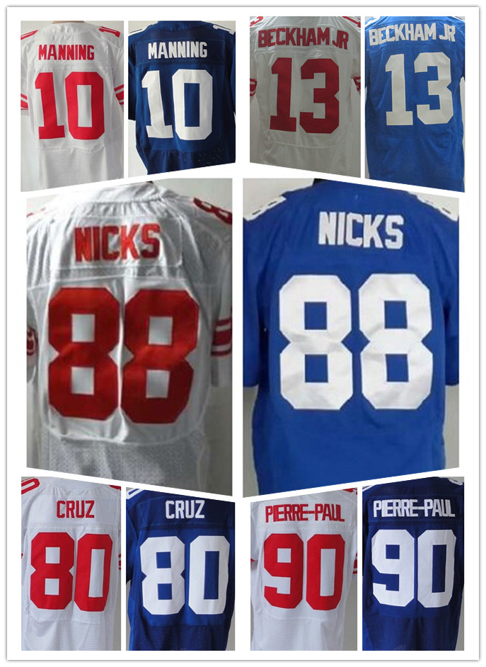 10 Eli Manning 13 Odell Beckham Jr 80 Victor Cruz 88 Hakeem Nicks 90 Jason Pierre-paul(China (Mainland))