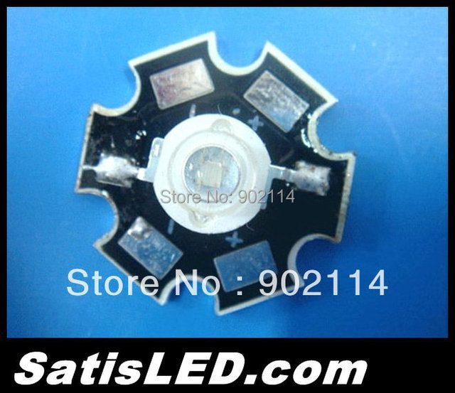 Free Shipping 20pcs/lot 3W High Power LED Blue 460-470nm with Star PCB Board