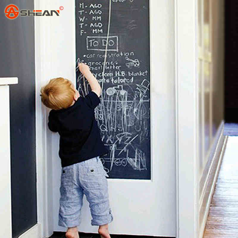 45*200cm Chalkboard Wall Sticker Cultivate Children's DIY Kids Room Removable Graffiti Painting Decor Mural Decals Art(China (Mainland))