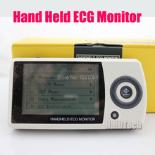 Heart care! Portable Handheld ECG EKG Heart Monitor - CD, 3-lead & Electrodes Cable Easy ECG Monitor Heart Beat Device MD100A12(China (Mainland))
