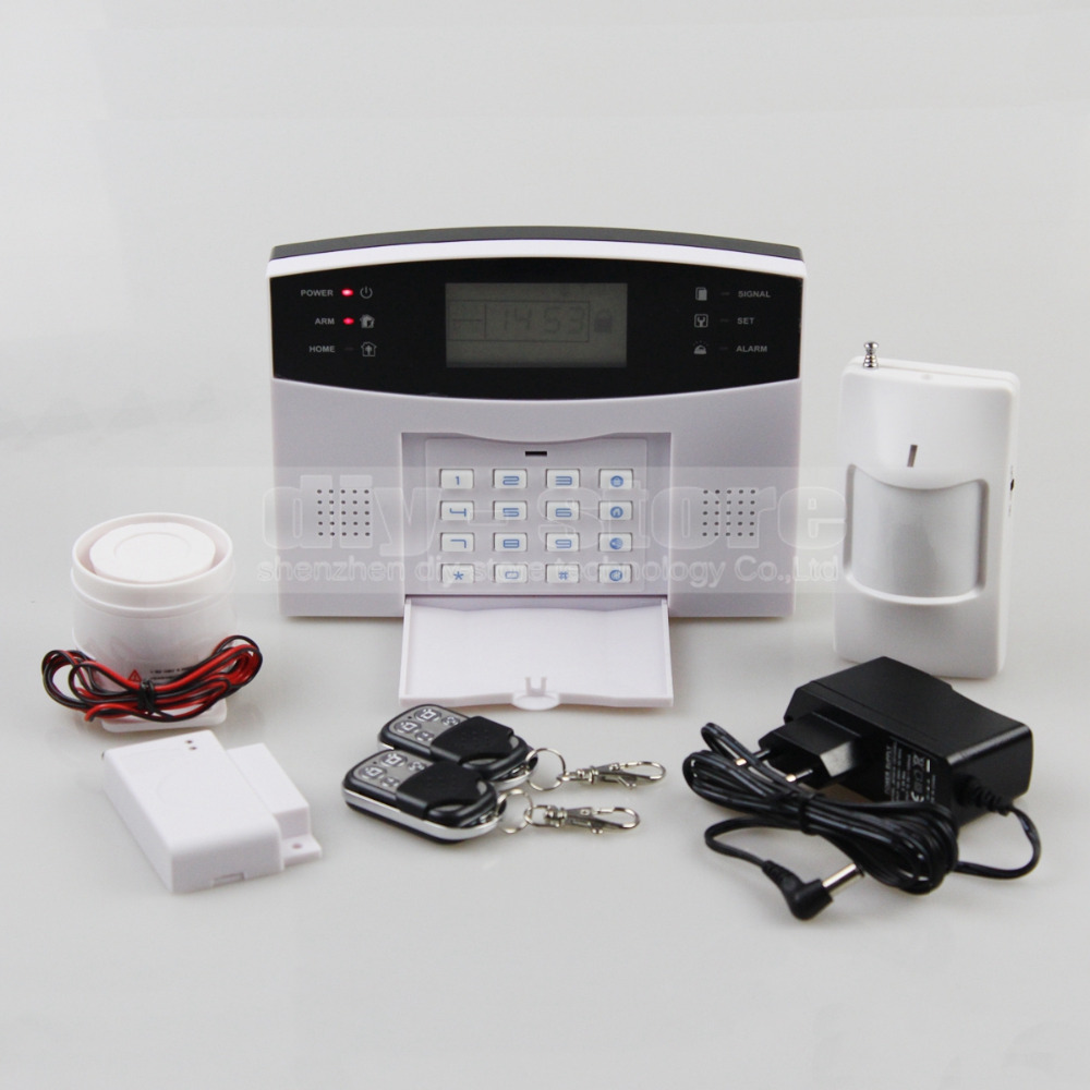 433MHz Wireless Wired GSM/SMS/TEXT/Dial Security Alarm System Auto-Dial Defense Zone For Garage Storage Home Garden(China (Mainland))