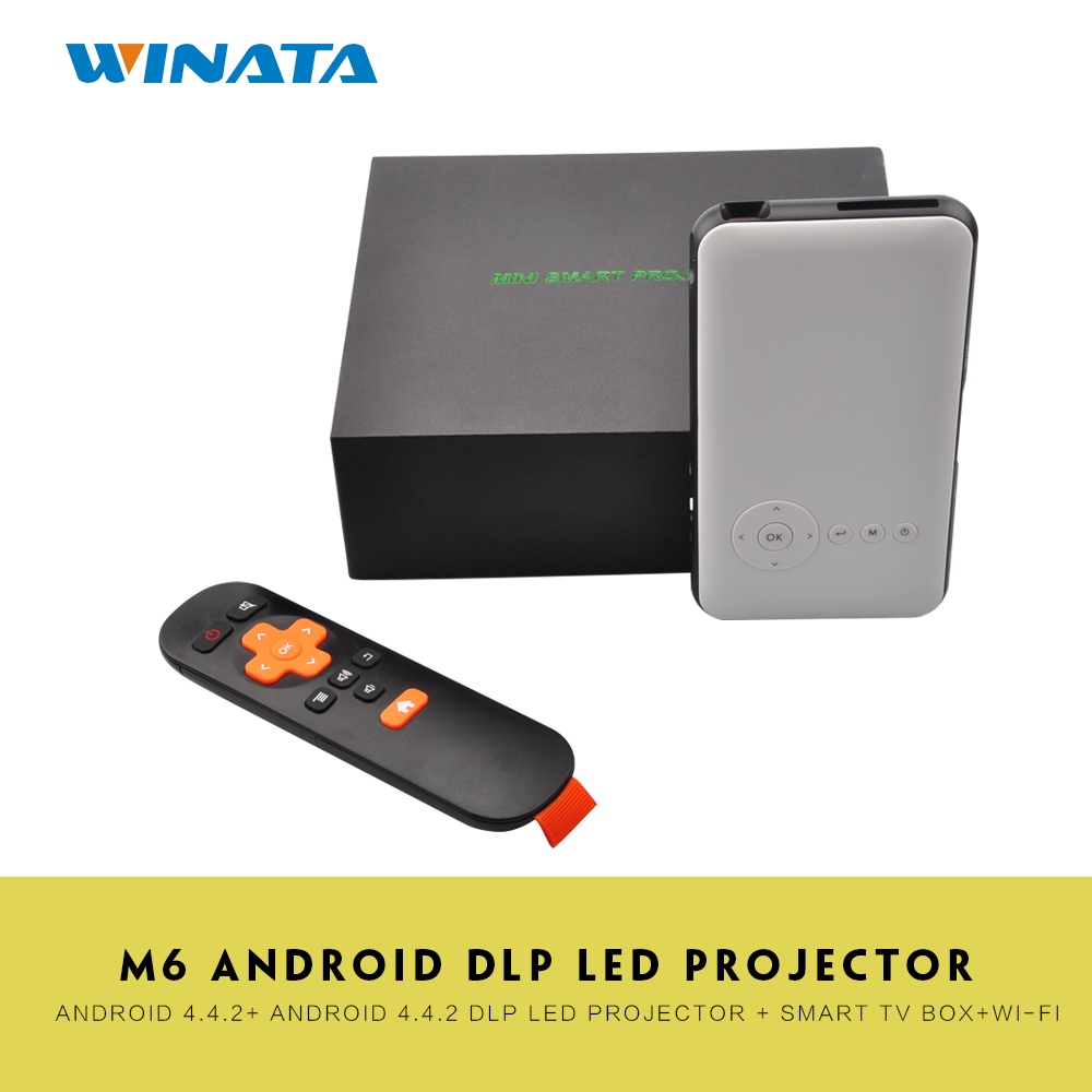 Android OS DLP Led Projector WVGA WiFi BT4.0 Mini Projector HDMI Output IR Beamer +1G/8GB Smart TV Box 2 in 1 XBMC 2.4G/5G(China (Mainland))